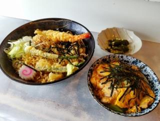 【茨城県】【石岡市】「松坂屋」冷やしたぬきそばと、ミニ親子丼セット