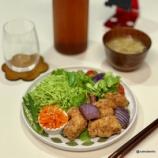 『大豆ミートの唐揚げ弁当&晩御飯』の画像