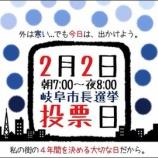 『岐阜市長選挙、結果は約39%の低い投票率。隣の芝は青いのか?』の画像