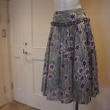『DUAL VIEW(デュアルヴュー)フラワー&ストライプフレアスカート』の画像