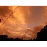 『台風一過の夕空』の画像