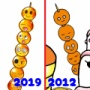 beforeafter★2012年→2019年の絵を比較!「お団子」