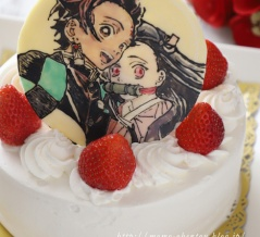 キャラケーキ*鬼滅の刃 炭治郎・禰豆子のキャラチョコケーキ