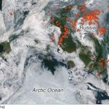 『シベリアでいまだかつてない規模の森林火災』の画像