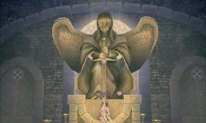 女神像の正面ぎりぎりの位置に立つと…