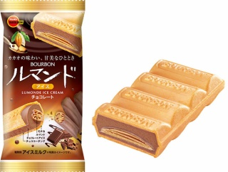 お次は『チョコレート』!『ブルボン』の大人気商品『ルマンドアイス』のNewな味!『ルマンドアイスチョコレート』発売決定!9月20日から先行販売。