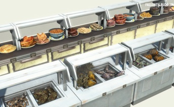 Filled Diner Counters and Buffet Counters