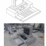 『G623 インド雪花青 洋風デザイン墓石 洋墓』の画像