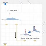 『3次元翼(簡易矩形翼モデル)空力計算コンポーネント』の画像
