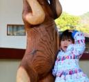 悩むマレーグマのツヨシ、往年の姿が彫刻に いま煩悩は