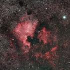 『シグマ150mmF2.8マクロレンズで撮影した北アメリカ星雲&ペリカン星雲付近』の画像