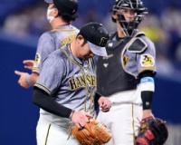 【阪神】岩田が四回途中で降板。2番手・岩貞は大島に適時二塁打浴びる。