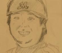 『モーニング娘。'16牧野真莉愛ちゃんが書いた元ロッテ里崎智也』の画像
