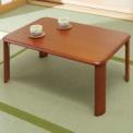 来客やテーブル作業に便利な、風格ある天然木折れ脚の…