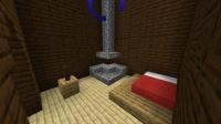 森の洋館リフォーム ~ 1つのベッドが置かれた寝室&地図の部屋