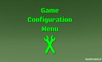 Game Configuration Menu v0.4