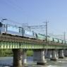 多摩川、夏の朝 Hino