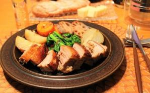 ストウブで簡単に作った豚肉料理
