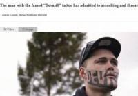 顔にタトゥーの男「マスコミの過剰報道せいで職につけない」