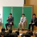 日本大学生物資源学部藤桜祭2014 ミス&ミスターNUBSコンテスト2014の37(審査結果を待つミスターNUBS候補4人)