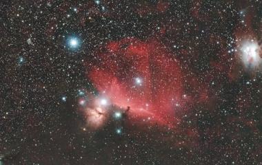 『オリオン座の馬頭星雲付近の散光星雲&分子雲』の画像
