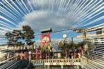 交野戎で笹もって来い♪住吉神社にあのでっかいえべっさんフェイスが登場!〜双子説とかも出そうな道沿いの大看板も注目〜