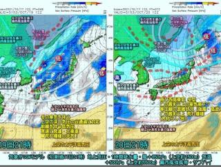 冬型緩み気温も上昇。ただ明日から今季2回目の冬型へ!(211018)