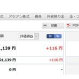 『2020年4月(26か月目)の楽天証券でのポイント投信の評価は91,139円でした。』の画像