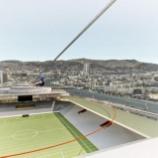 『[V・ファーレン長崎] 計画中の新スタジアムに関して新たに2案の完成予想図を発表!!』の画像