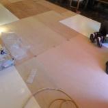 『【北欧スタイル・日進木工の家具2012】特殊加工MDFの床張替え』の画像