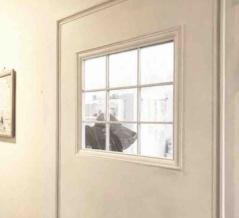 トイレのドア改造*ガタガタの枠を隠す方法*