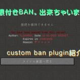 『custom ban pluginの紹介![プラグイン]』の画像