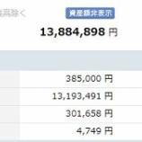 『【運用状況】2月末時点の資産額は1388万円でした』の画像