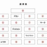 『座席表』の画像