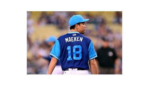 前田健太、メジャー最少1安打ピッチング、ドジャースファンも「マエケン!」と絶賛