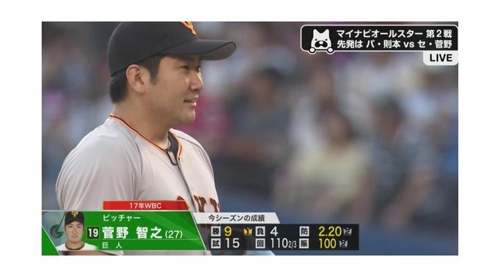 【 動画 】菅野のストレート!
