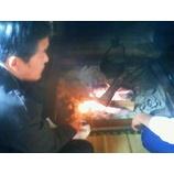 『囲炉裏を囲んで』の画像