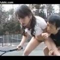 【テニスプレイヤー】時間よ止まれ!!固定したテニス美少女にイラマ&立ちバック!!