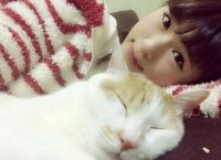 渋谷凪咲とその飼い猫メイが可愛い!