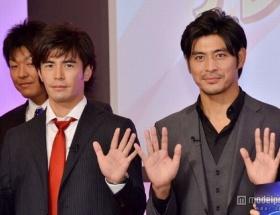 伊藤英明&坂口憲二がテレビ朝日の2013年度入社式にサプライズ登場