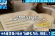 【悲報】消費税20%が現実的に・・・ネットで怒りの声