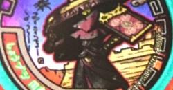【QRコード】しょうブシ周泰の武将メダル【妖怪三国志】