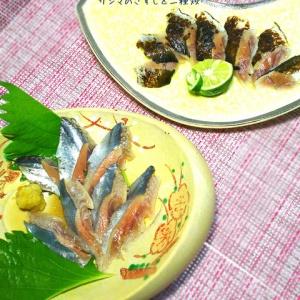 1匹で2度美味しく♪秋刀魚のきずし と 炙り
