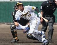 佐藤輝に負けられん 2年目の阪神・井上が逆転口火の二塁打 長打力で外野争いに参戦