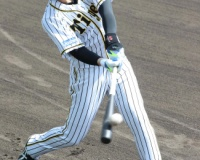 阪神井上「焦らずゆっくり」故障後初の屋外打撃練習