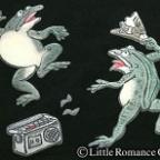 メンズ和柄半袖Tシャツ/柳躍蛙