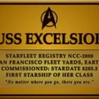 『USSエクセルシオとUSSエンタープライズの銘板』の画像