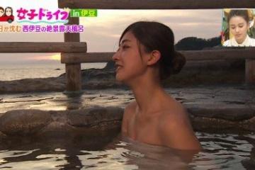 熊井友理奈の入浴中のおっぱいがエッチ