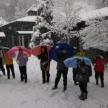 『おっとびっくり!雪の中の登校』の画像