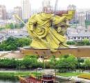 中国、めちゃくちゃカッコいい関羽の巨大像を解体